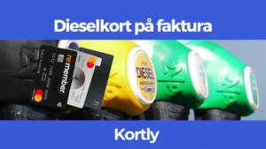 dieselkort på faktura